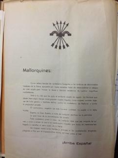 Propaganda falange- Ministerio AAEE italiano-Manuel Aguilera